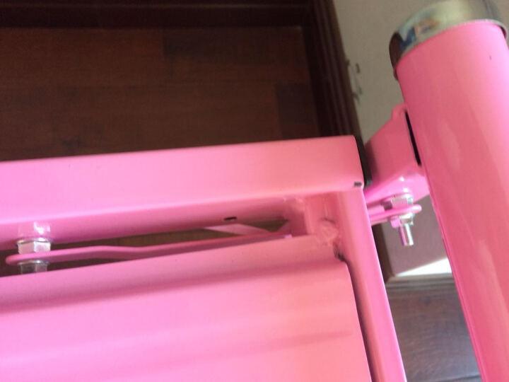 艾多丽 折叠床单人床简易办公室午休午睡床躺椅铁艺钢丝床陪护床 浅蓝色 1000*1900 晒单图