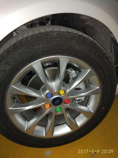 洛玛 汽车轮毂螺丝帽装饰保护盖 轮胎防护帽 防水防尘防锈炫彩轮毂盖 轮胎帽 轮毂螺丝盖 橘色 一套20个 21寸 晒单图