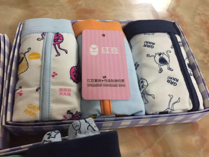 红豆(Hodo)儿童内裤男中大童A类标准三条盒装小孩卡通印花四角裤HDK793 150 晒单图