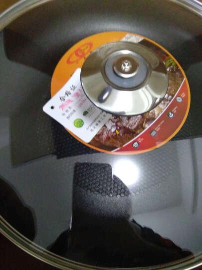 一品厨(yipinchu) 不粘煎锅平底锅煎饼锅牛排锅电磁炉通用彩色不粘锅 28CM蓝色红色随机(压纹带盖) 晒单图