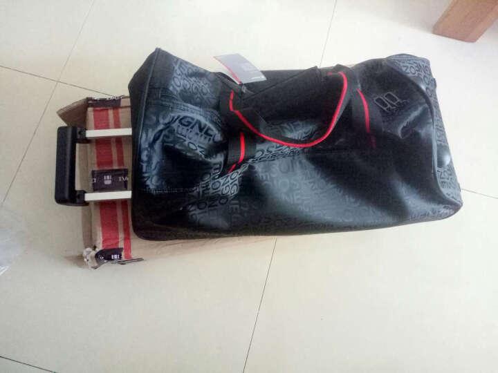 dapai 新款男女旅行拉杆包大容量登机包拉杆袋手提包 休闲出差拉杆手包842 黑色 晒单图
