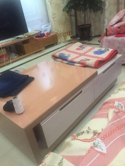 梵调 茶几 钢化玻璃茶桌台 现代简约客厅家具烤漆伸缩旋转茶几边桌边几 大户型茶几 611 (简约黑白色) (3件)电视柜+四斗柜+茶几 晒单图