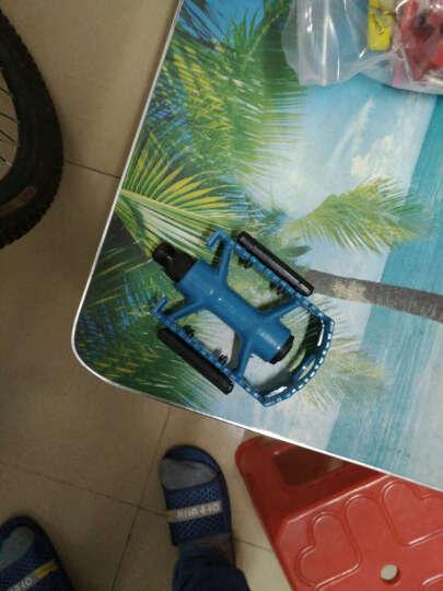 忍者风通用全铝合金山地车脚蹬自行车脚踏防滑踏板改装配件 蓝色铝脚蹬一对 晒单图
