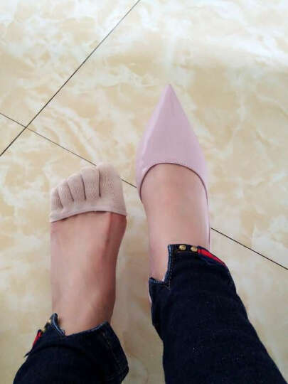 jSC隐形五指袜子女款棉浅口半掌隐形袜女士夏季高跟鞋袜子 肤色-全指半掌护垫隐形袜 晒单图