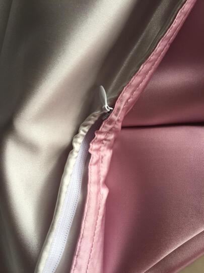 枕水人家真丝四件套【重磅19姆米】 100%桑蚕丝床品婚庆 真丝丝绸套件 卡布奇诺 200X230(CM) 晒单图