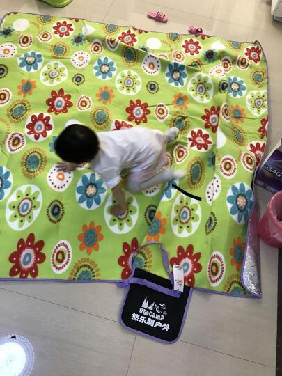 悠乐朋(Ulecamp)200*200cm野餐垫 加绒加厚底部铝膜防潮垫 帐篷垫 太阳花地垫KC-02 晒单图