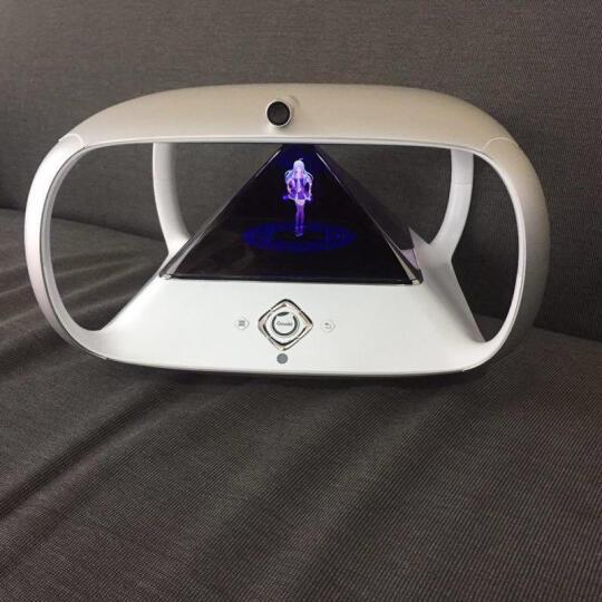 狗尾草(Gowild.cn) 【官方旗舰店】狗尾草琥珀虚颜智能机器人3D全息投影养成 科技银 晒单图