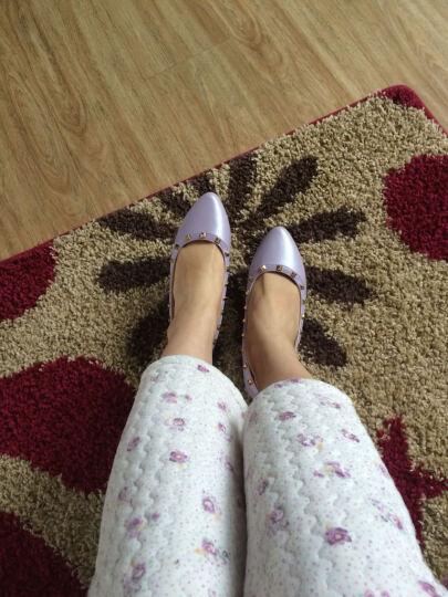玫蒂莎(MDIS∧) 四季青春款潮流柳钉舒适休闲单鞋女 Y1861 粉色 38码 晒单图