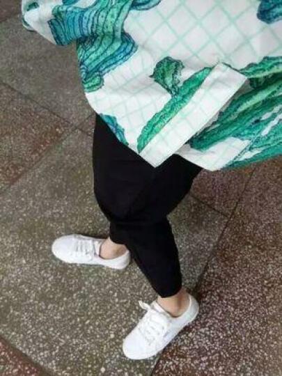 于茵 休闲裤女2018秋冬季新品铅笔小脚长裤韩版薄款显瘦女裤 YQ583 YYR613黑色 XL 晒单图