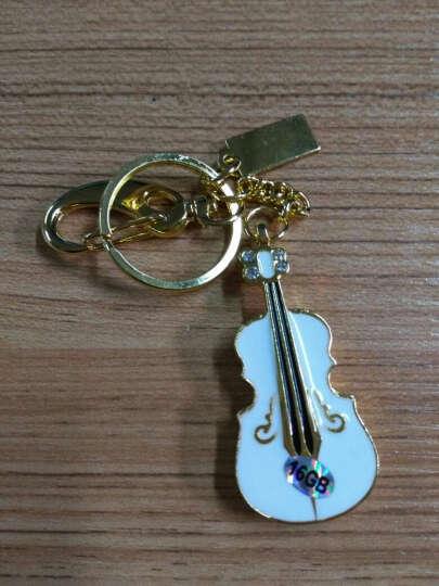 初忆(CHUYI)U盘8GB16GB32GB64GB USB2.0小提琴黄色(金属外观 商务创意) 白色金底 64GB 晒单图