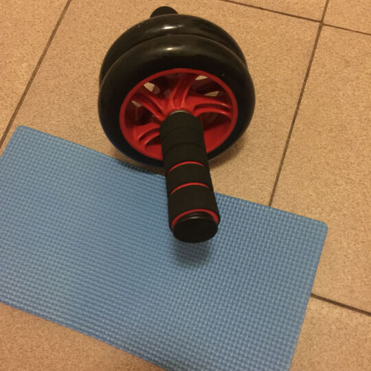 INITIAL FUN 健腹轮锻炼腹部推轮运动滑轮收腹滚轮健身器材家用男女 浅蓝色 晒单图