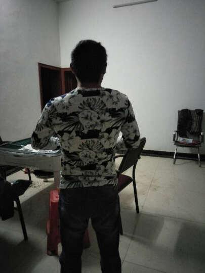 三我 长袖T恤男V领 春秋新款青少年时尚印花修身打底衫男 迷彩浅绿 XL 晒单图