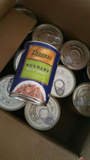 顽皮Wanpy 宠物 happy100系列角切牛肉蔬菜罐头 375g*12罐 晒单图