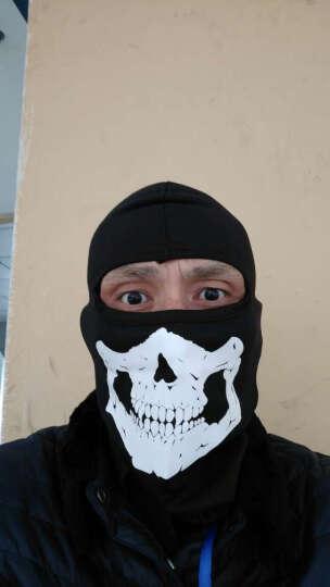 NE&CE 莱卡自行车骑行头套面罩男女 户外运动防晒防尘防风透气速干护脸头罩 骷髅面罩反光款 晒单图