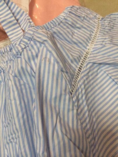 巴拉巴拉童装女童短袖衬衫中大童小童上衣2017夏季新款儿童衬衣女 粉白色调 140 晒单图