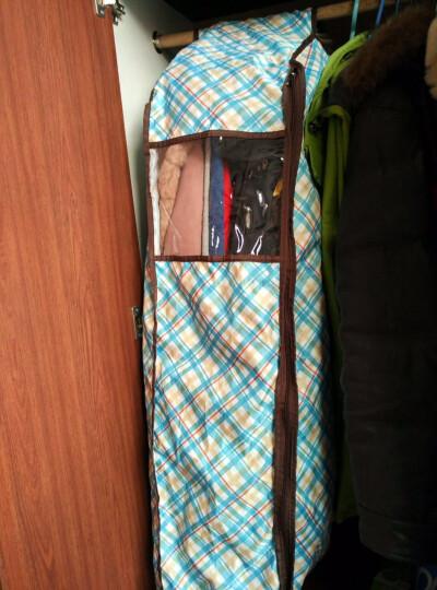 宅美 立体衣服防尘罩 手提大衣收纳袋 西服套西装罩 加厚衣物挂衣袋防尘袋 收纳挂袋 格调粉 57*25*110cm 晒单图
