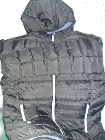 特步男装羽绒服冬季新款轻便保暖透气户外休闲白鸭绒运动外套 暗橙 2XL 晒单图