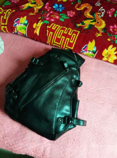 裂狼(LIELANG)双肩背包男士大容量休闲商务旅行包15.6英寸电脑包时尚韩版学生书包 潮流黑-经典款-耳机孔+USB充电款 晒单图