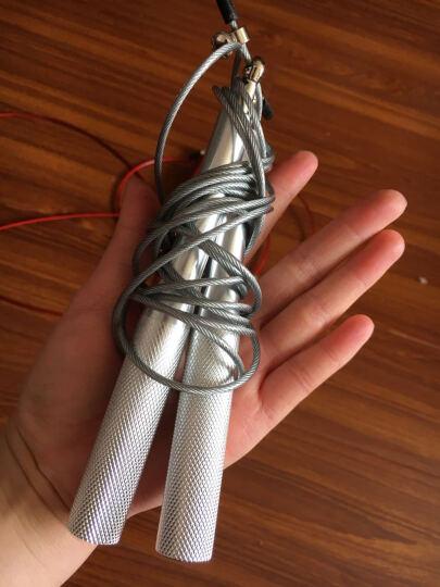 WITESS健身器材减肥运动体育男女中考专用计数跳绳  专业花样钢丝跳绳 金属手柄玫红色 晒单图