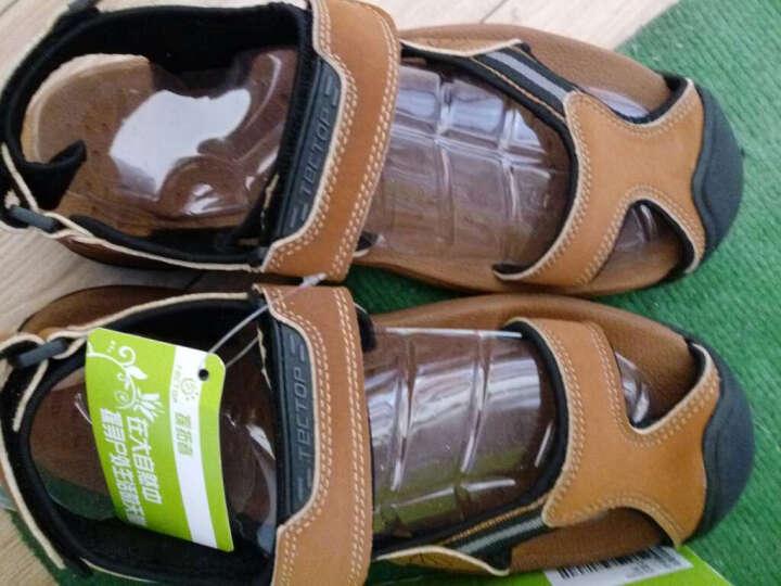 Tectop/探拓 男女户外运动休闲鞋舒适轻便透气耐磨沙滩凉鞋 XS4065 中灰色 38 晒单图