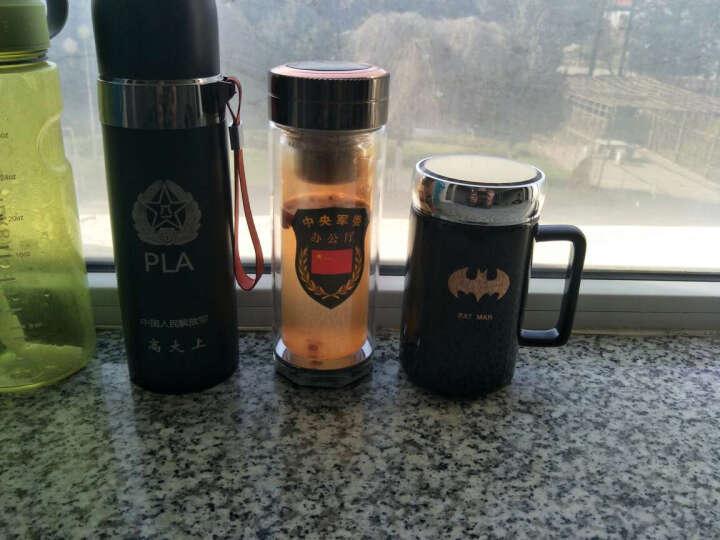 博力神 简约陶瓷杯马克杯带盖带勺个性咖啡杯办公室杯子创意水杯奶茶杯复古牛奶杯 西瓜矮筒500ml 晒单图