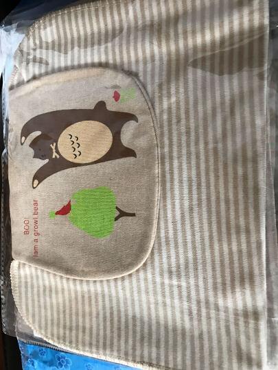 巴特熊(barthebear)婴儿用品儿童纯棉纱布吸汗巾隔汗巾宝宝彩棉垫背巾擦汗巾适合0-4-10岁 9条 纱布款M码 晒单图