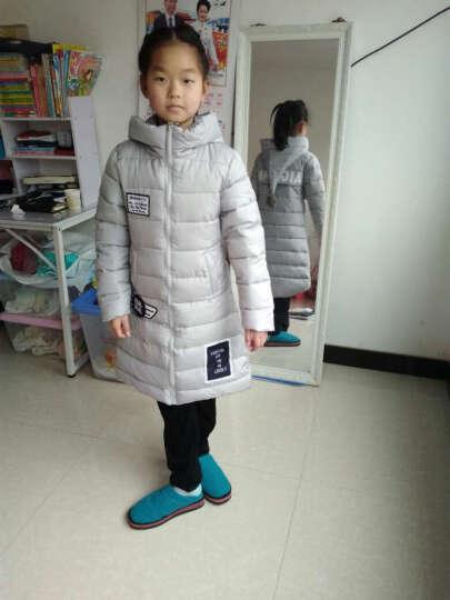 马可小熊 2016冬季新款女童加长款棉衣魔法面韩版加厚保暖 B3833 黑色 140(建议身高135cm) 晒单图