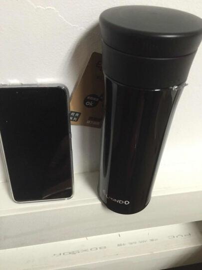 艾蒙多(Elmundo) (膳魔师出品)男士真空不锈钢茶漏保温杯办公饮茶杯保冷杯直饮泡茶 BK 黑色 500ML 晒单图