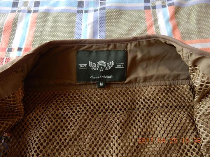 吉普盾钓鱼马甲男装春夏季薄款户外休闲多口袋摄影网格背心 7898宝蓝色 3XL 晒单图