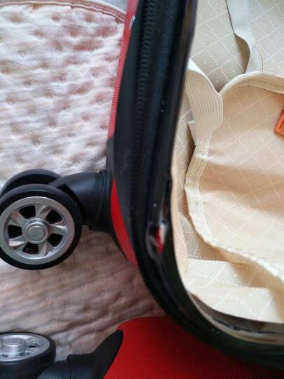 行李箱登机箱箱子旅行箱包万向轮拉杆箱20英寸24英寸28英寸潮流款式密码箱 小清新直条玫红色 28英寸 晒单图