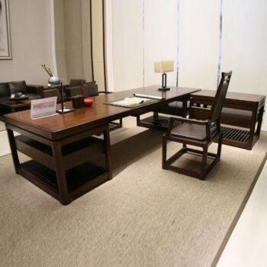 【木野】实木总裁桌 可定制 MY-128 中班椅 晒单图