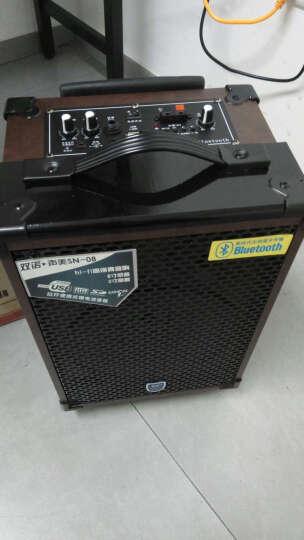 双诺 声美Q801 8英寸户外拉杆音箱 带无线麦克风广场舞音响 便携式大功率扩音器 深红色 晒单图