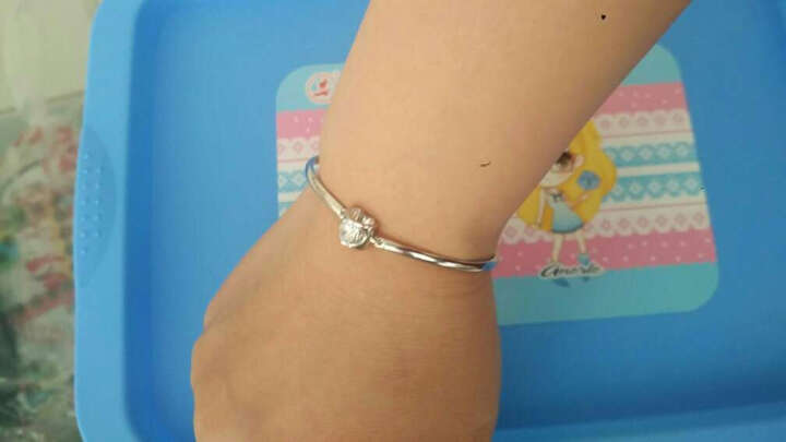 【特价秒杀】925纯银手链女 白色锆石款 晒单图