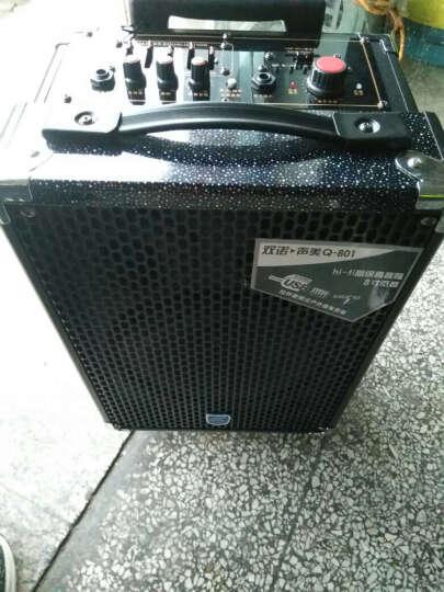 双诺 声美Q801 8英寸户外拉杆音箱 带无线麦克风广场舞音响 便携式大功率扩音器 黑色 晒单图