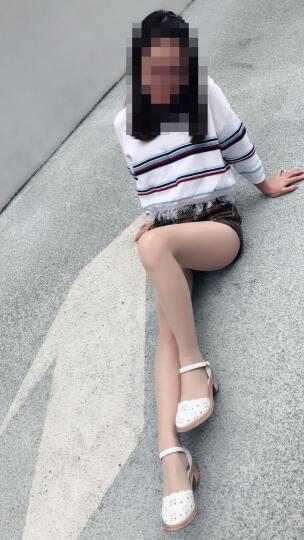 真皮凉鞋女 毅雅2019夏季新款简约镂空包头中跟粗跟凉鞋一字式扣带玛丽珍女鞋 47 真皮白色 38 晒单图