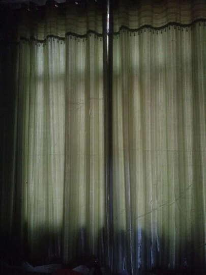 福蝶 全遮光卧室窗帘加厚遮阳窗帘布简约现代客厅书房成品窗帘窗纱定制遮光窗帘 浪漫条纹 绿色-打孔加工+横项帘头+珠子花边 宽2.5米高2.7米 1片装 晒单图