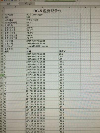 精创冷藏车冷库仓库大棚冷链运输u盘式温度记录仪数据记录仪rc-5 防水usb高精度温度计 晒单图
