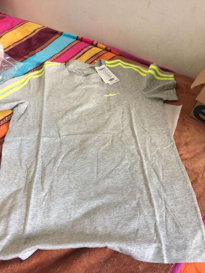 鸿星尔克erke男短袖T恤夏季新款纯色运动时尚圆领短袖T恤 浅花灰 M 晒单图