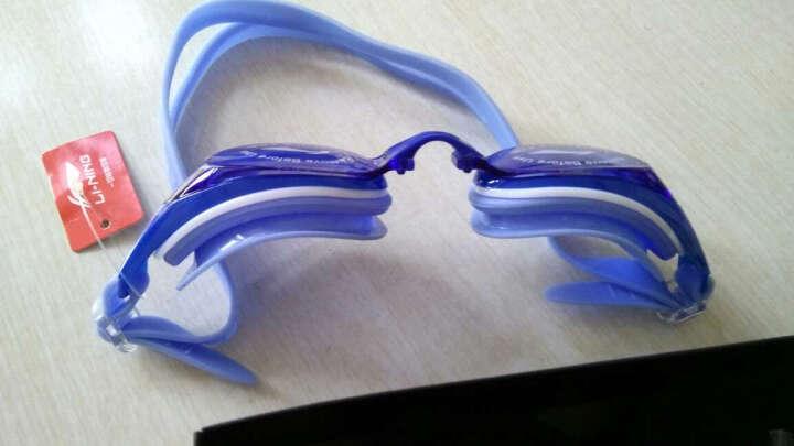 李宁(LI-NING) 泳镜 男女同款高清防雾游泳镜 成人V儿童舒适贴合大框防水游泳眼镜 508黑近视300度 晒单图