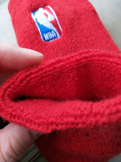NBA护腕纯色棉毛圈加厚篮球羽毛球用品装备护具红色 2只装 晒单图