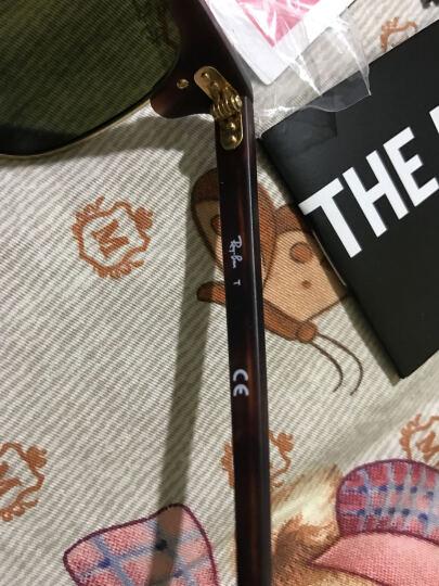 Ray-Ban 雷朋 时尚潮流俱乐部经理人款玳瑁色镜框蓝色镜面镀膜镜片眼镜太阳镜 RB 3016 1145/17 51mm 晒单图