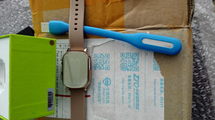DMDG 老人儿童电话手表 智能手表定位通话手表手机 GPS远程定位追踪防丢定位手环 土豪金+棕色表带(适合手臂较粗者购买) 晒单图