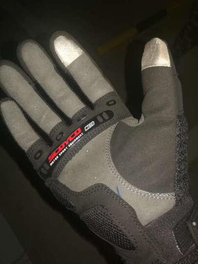SCOYCO赛羽 摩托车越野车赛车碳纤手套 摩旅骑行手套 夏季清凉透气防护手套 MC20 红色 XL 晒单图