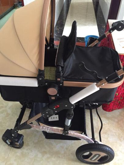 亿宝莱(yibaolai) 婴儿推车儿童高景观可坐可躺婴儿车宝宝童车手推车伞车 V18-1(玫红色)高景观+双刹+避震 晒单图
