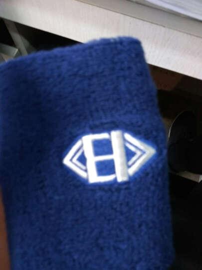 卫步 手腕毛巾带擦汗护手腕护腕运动护具羽毛球哑铃篮球自行车 蓝色 单只 均码 男女通用 晒单图