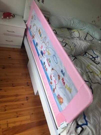棒棒猪BBZ儿童婴儿防摔床护栏垂直升降床围栏防掉床挡板床上床边护床栏1.8米大床2米 升级款防夹手床 蕾拉天使 2.0米防夹手薄厚床垫通用 晒单图