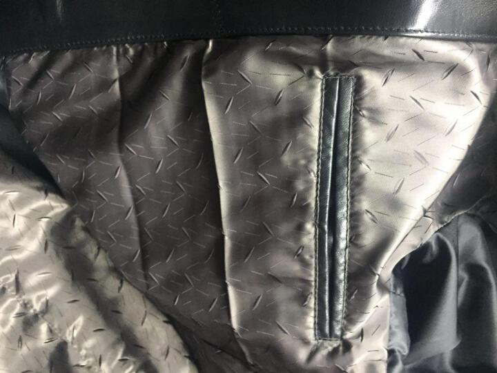 索伦森 2018新款真皮皮衣男士海宁绵羊皮中长款风衣修身真皮羽绒服男西装领外套 单款和加棉建议拍大一码,羽绒款按平常拍 175/XL 晒单图