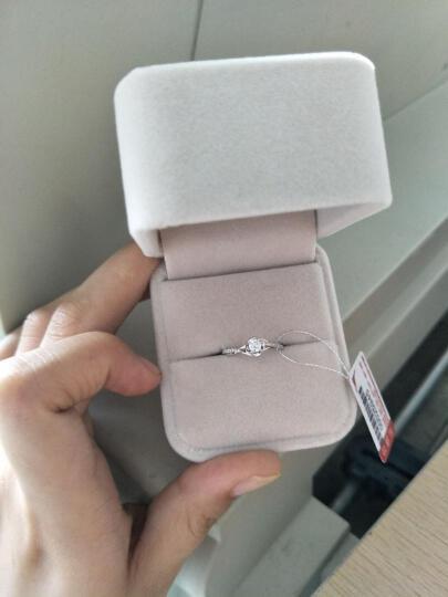 鸣钻国际 四爪豪华钻戒女 白18K金钻石求婚戒指/婚戒/情侣对戒女款 18号指圈 晒单图