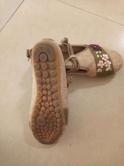锦绣秋夏季新款老北京布鞋女时尚休闲民族风女鞋妈妈鞋单鞋奶奶鞋 2850墨绿绿色 40标准尺码 晒单图