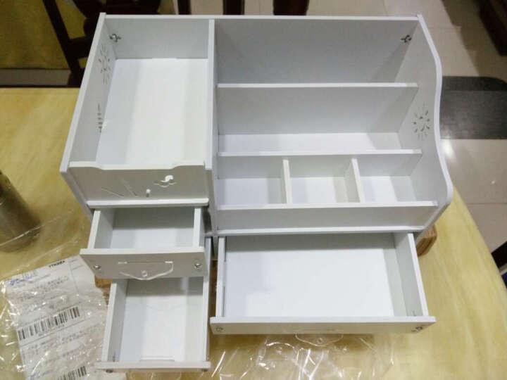 创意抽屉收纳盒防水加厚化妆品收纳箱雪弗板桌面收纳架四抽屉大号 加厚小萌蟹白色109 晒单图